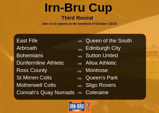 Irn-Bru Cup Third Round Draw