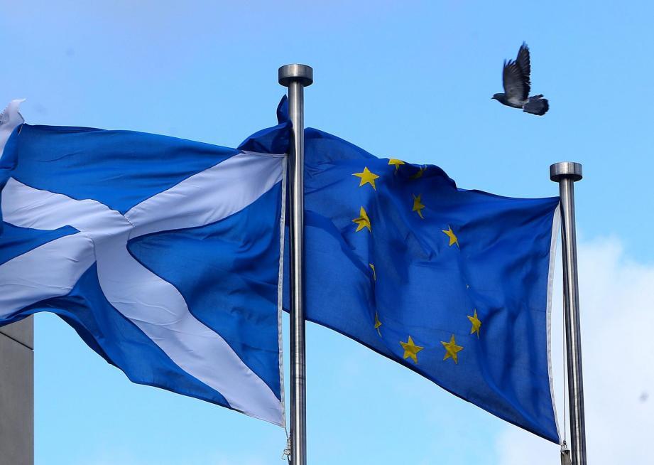 Scots Flag, EU Flag